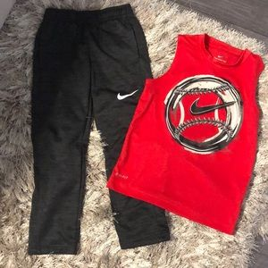 Boys Nike Pants and Tank size 6 and 7
